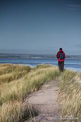 Dune Walker (DMeadows) Tags: sea man beach water grass landscape person coast scotland seaside sand waves fife dunes dune human coastal walker tentsmuir davidmeadows dmeadows davidameadows dameadows