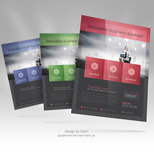 Business Flyer Template vol3 (valentinplesa) Tags: promotion modern magazine ads design marketing flyer education profile creative free clean business company management advert font letter a4 advertisements financial template consulting multipurpose editable
