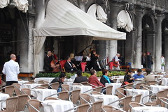 Very civilised ! (Halliwell_Michael ## More off than on this week #) Tags: venice italy history musicians architecture tables piazzasanmarco misic 2013 nikond40x