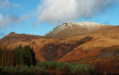 National Park Loch Lomond (Missy Jussy) Tags: trees sky snow mountains clouds canon scotland nationalpark stirling lochlomond thetrossachs balmaha