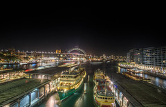 Circular Quay - Sydney, Australia. (Ozcamera) Tags: city longexposure nightphotography night harbor long exposure harbour sony ships sydney circularquay ferries sydneyharbour nighttraffic sydneyferries sydneyhdr harbourtraffic nex6