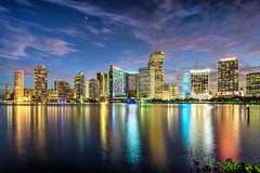 Miami Florida (Sky Noir) Tags: skyline night twilight cityscape florida miami themagiccity skynoir pwpartlycloudy