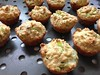 Leek-Thyme-Oatmeal mini muffins (square one studio) Tags: baking oatmeal leeks minimuffins jacquespepin lastdayof2013