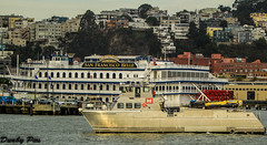 $8.5 Million John A.B. Dillard, Jr Army Corp of Engineers boat with San Francisco Belle background (Dunby PICS) Tags: california port john boats army bay san francisco central ab jr junior belle corp command engineers paddlewheel dillard hornblower