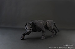 Black Panther (Sunny Marmalade) Tags: black paper origami panther folding kunsulu jilkishiyeva
