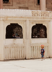 Sleymaniye Camii / Mosque (mysa kh) Tags: holiday colour art architecture turkey asia europe child play minaret muslim islam middleeast courtyard istanbul mosque east ottoman colourful calligraphy middle eastern turkish masjid minarets turk islamic constantinople islamicart suleymaniye suleyman hurrem roxelana