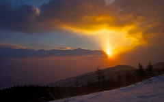The first sunrise in this year (Yoshia-Y) Tags: snow sunrise yatsugatake mtnyukasa