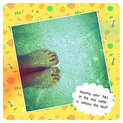 Dipping your toes in the cool water is simply the best... (☼ EkkyP ☼) Tags: summer self square bath sunday january fake bubbles ripples 365 wah wh selfie 2014 26365 hereio flickrandroidapp:filter=flamingo