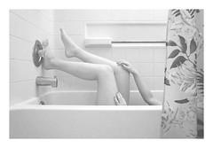 I (DeniseC.) Tags: california house water girl bathroom shower blackwhite legs southern bathtub onthebrim