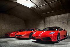 The Stables. (Alex Penfold) Tags: red cars alex up car spider ferrari line f autos scuderia supercar f430 supercars 430 512 f355 penfold 2014 355 16m 512m