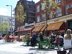 Lunch on Exhibition Road, London (teresue) Tags: uk greatbritain england london unitedkingdom knightsbridge lunchtime kensington cafes exhibitionroad 2013 albertopolis