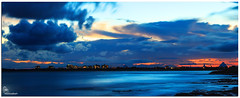 Sunset from the Beach to the Mountains (Brett Huch Photography) Tags: ocean sunset sea sky seascape beach nature water night surf waves seascapes australia kings qld queensland aussie sunshinecoast caloundra kingsbeach wavesbreaking