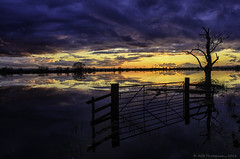 Sunset levels (AGB Photography) Tags: water weather landscape scene floods somersetlevels nikond7000 agbphotography2014