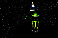 The genie out of the can - GOOC -  :P (MAGIC PASSION * PHOTOGRAPHY *) Tags: light lightpainting monster stencil energy long exposure time sony tube double pro alpha 8mm walimex multi 57 a57