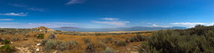 Surrounding (wenzday01) Tags: statepark park travel sky panorama reflection nature water utah ut phone cellphone bluesky antelopeisland saltlakecity saltlake greatsaltlake iphone antelopeislandstatepark iphone5 iphoneography