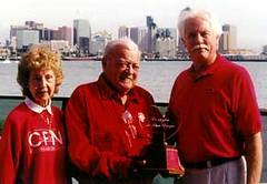 2000 Corazón de San Diego Recipient Lloyd Bucher with Rose Bucher & Tom Hedges