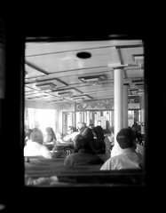 Star Ferry (~~Victor Liu~~) Tags: life china street old city portrait people urban blackandwhite bw motion art history monochrome ferry digital hongkong nikon asia day afternoon 85mm retro explore nostalgia nikkor photograhpy location4 d700