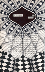 yielding flesh (Jo in NZ) Tags: blackandwhite drawing foundtext foundpoetry zentangle nzjo zendoodle