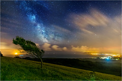 Midnight View over Sandown Bay (islandvisionsphotography) Tags: lowlight astrophotography isleofwight nightsky milkyway sandownbay eastwight