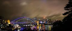 View from Lavender Bay (Laurent jL Photography) Tags: bridge house festival night opera harbour sydney vivid australia operahouse harbourbridge d800 2014 500px vividfestival ifttt vivid2014