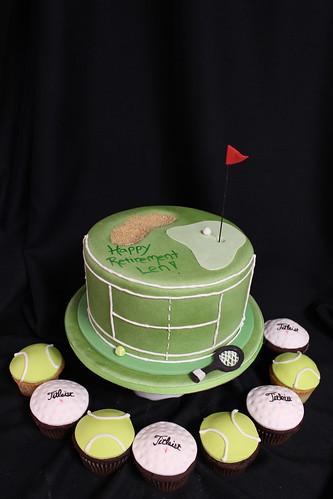 Golf Cake & Cupcakes