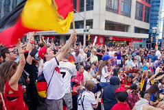 Germany wins World Cup Soccer Final 2014 (Jen Yeaman) Tags: world toronto ontario canada cup sports argentina loss germany fun football soccer crowd watching july celebration final german fans cheer win worldcup celebrate 2014