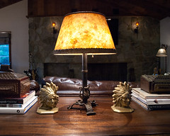 (deanmackayphoto) Tags: light lamp table fireplace guitar box indian books livingroom versailles bookends renovation decor fixture interiordesign cigarbox indianhead ontheedge
