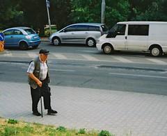 Elikon 35S - Elderly Man on Sidewalk (Kojotisko) Tags: street city people streets person lomography czech streetphotography brno cc creativecommons czechrepublic streetphoto persons elikon elikon35c elikon35s lomographycolornegative elikon35 lomographycolornegative100 35 lomographycolornegativ100 lomographycolornegativ