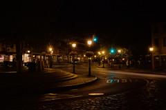Newburyport Square at Night (BlueShift 12) Tags: yellow night dark lights trafficlight town streetlight massachusetts newburyport
