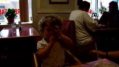 Neriah falling asleep in Diner