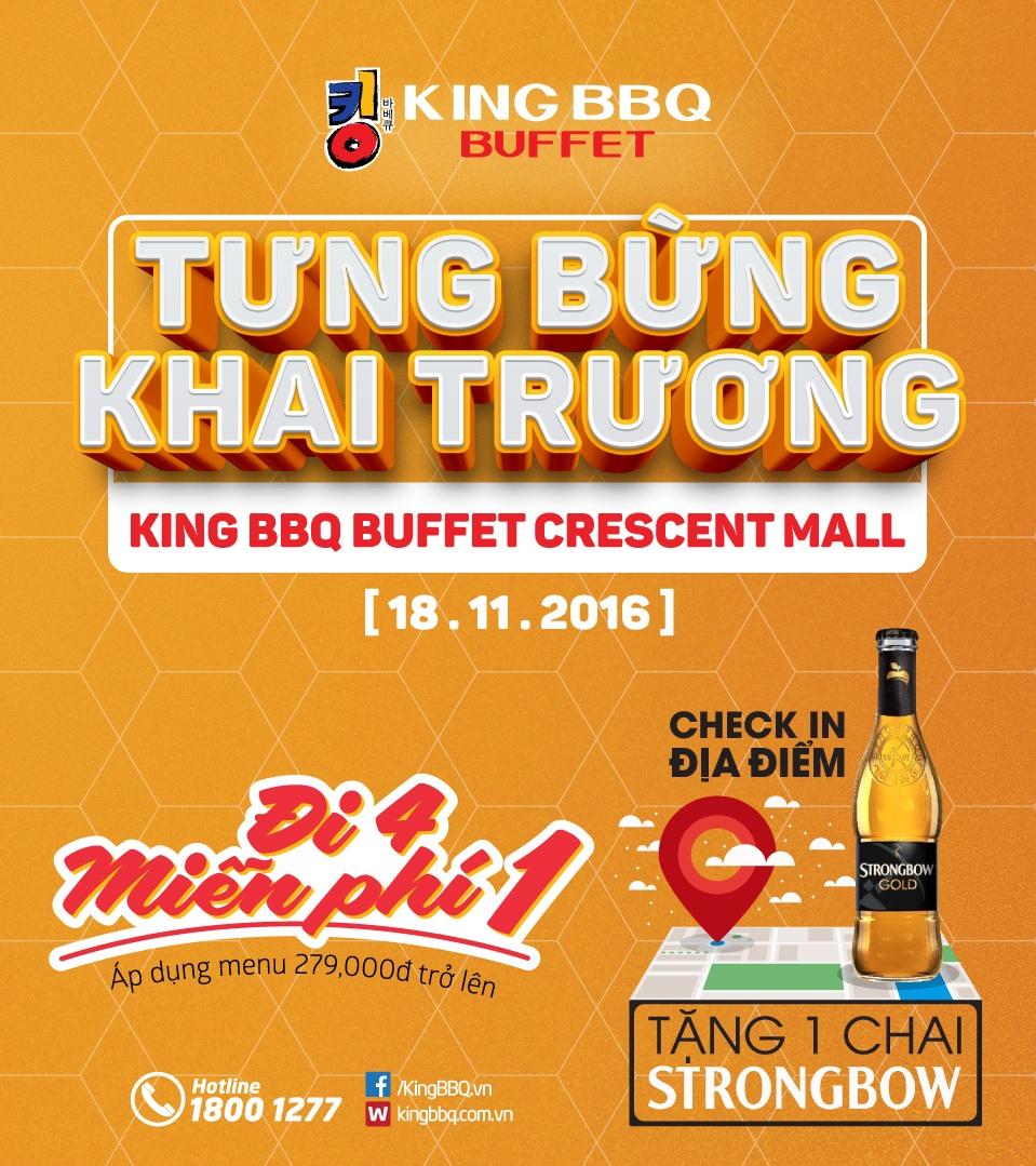 Tưng bừng khai trương Kingbbq Buffet Crescent Mall BUFFET