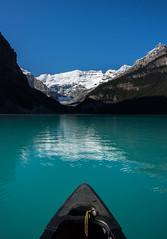 Canoe on Lake Louise (julieshanks1) Tags: lake louise canada banff national park landscape canoe nature water mountains glacier