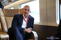 R. Mazzoncini AD FS ITALIANE (Ferrovie dello Stato Italiane) Tags: rfi trenitalia treno av linea altavelocit treviglio brescia viaggio prova trasporti infrastrutture renatomazzoncini