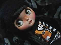 Ruby's Red Now Black (Lawdeda ) Tags: ruby zuzu dolls kingdom fbl blythe doll check it out scalp halloween 2016 picmonkey