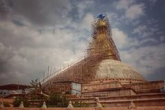 Untitled photo (dbot74) Tags: buddhist temple kathmandu nepal scaffold boudhanath stupa