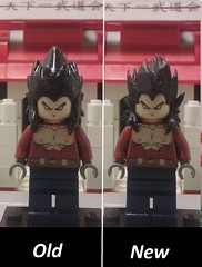 ssj4 vegeta old vs new (teamfourstud) Tags: dragonballgt gt dbgt vegeta 4 saiyan super ssj4 lego custom dragon z shapeways shape ways 3d print printed dbz dragonball ball
