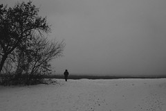 He seems to be waiting for someone (blaskovski_ph) Tags: russia sky people minimal tree silhouete mistake fuck fujifilm cheap lens monocrome
