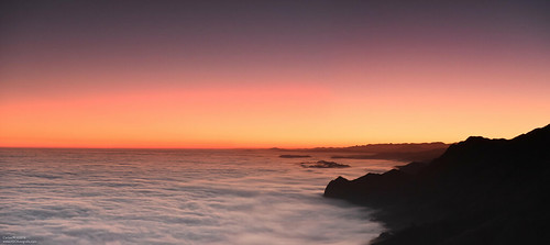 Sunrise over the clouds