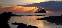 The Mewstone,from Wembury, Devon, UK. Image 1. (ronalddavey80) Tags: sunset seascape rocks mewstone