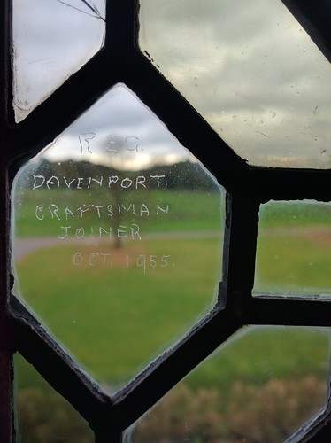 Signature Scratched on Glass: Little Moreton Hall