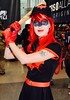 DSC_0534 (Randsom) Tags: nycc 2016 newyorkcomiccon nycomiccon javitscenter october nyc newyorkcity cosplay costume fun comicbooks comicconvention dccomics batmanfamily heroine superheroine batwoman cap bombshells redlips wig skirt bat tattoo pretty sexy woman girl black red gloves vixen female portrait