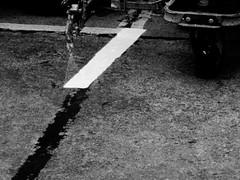 Demarcation (gallftree008) Tags: birthofaline demarcation dublin airport co ireland abstract arty farty artwork art artofimages artataglance artistic artyfarty linear spray spraypainting respray black blackwhite monochrome creativephotography reallife