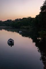 South Africa 2016 (mcmessner) Tags: africa bj boat forme reflection river sunset tongabezi tongabezilodge water zambeziriver zambia livingstone