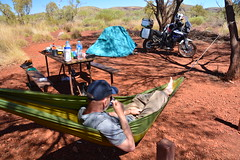 Dales Campground (~Jek~) Tags: aus australia dalescampground geo:lat=2247159760 geo:lon=11854907870 geotagged karijininationalpark westernaustralia hammock cupoftea cuppa camping campsite motorcyclecamping motorcycletouring