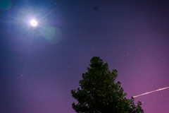 Trifecta (kevin_nagooyen) Tags: moon space astronaught nasa rocket airplane jet engineer sun planet color vivid luminance reflcetion light sky landscape purple flare stars tree wood leaf slow shutter