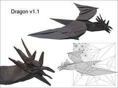 Dragon v1.1 (Mdanger217) Tags: max danger origami dragon v11 inkscape original design