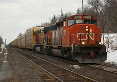 One Hell of a 393 (Joseph Bishop) Tags: cn 5298 emd sd402w cndundassubdivision brantford hardyroad trains train track tracks railfan railroad railway rail rails