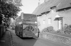 Sunday service (DH73.) Tags: stagecoach gold 15196 yn64aog chater street moulton olympus 35rc ilford delta 400 id11