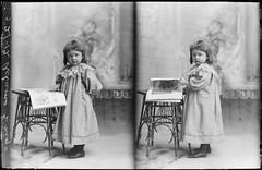 18-22 Little Girl (gordon_morales) Tags: glass plate negative girl dress