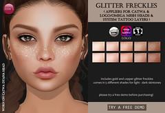 Glitter Freckles (for FLF) (Izzie Button (Izzie's)) Tags: flf glitter izzies freckles gold applier